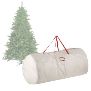 white christmas tree bag