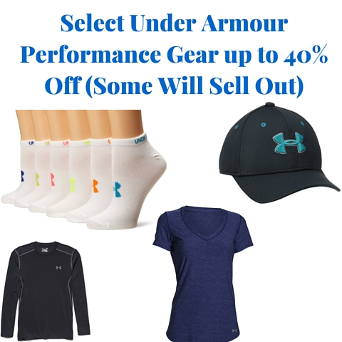 Select Under Armour Performance Gear up to 40% Off (Some Will Sell Out)