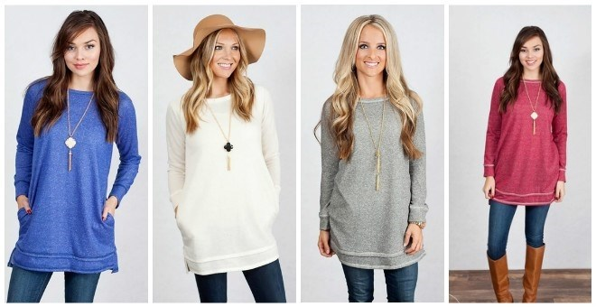 pocket sweater tunic