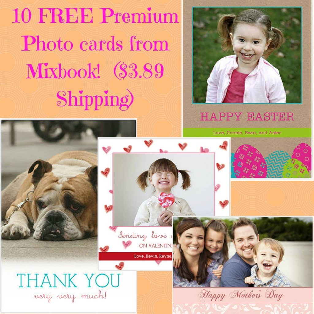 10 FREE Premium Photocards from Mixbook! ($3.89 Shipping)