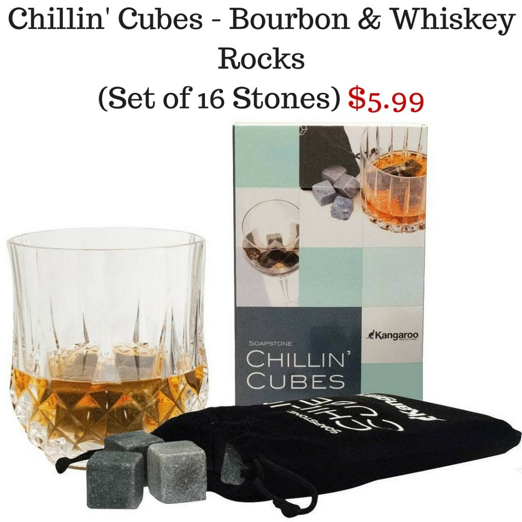 Chillin' Cubes - America's Finest Bourbon & Whiskey Rocks (Set of 16 Stones) $5.99