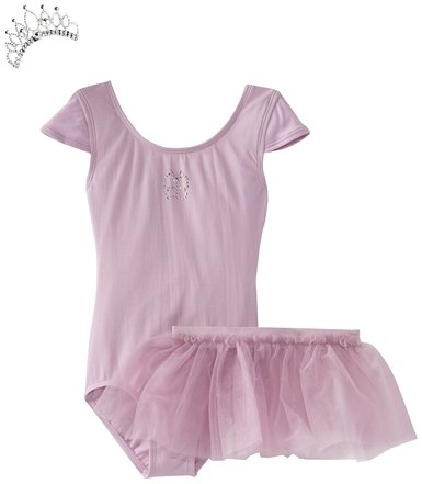 Danskin Little Girls' Ballerina In A Box Prima Leotard Set