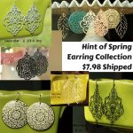 Hint of Spring Earring Collection $7.98 Shipped