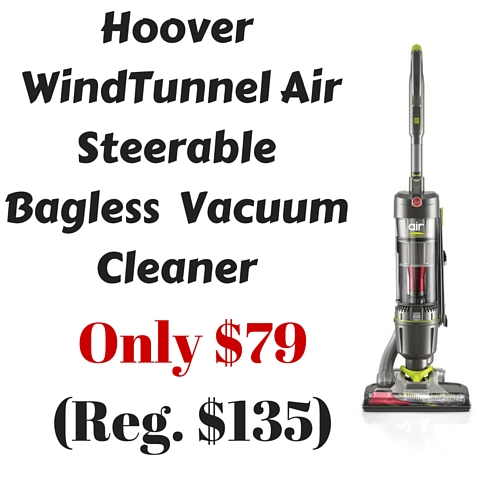 Hoover WindTunnel Air Steerable Bagless Vacuum Cleaner Only $79 (Reg. $135)