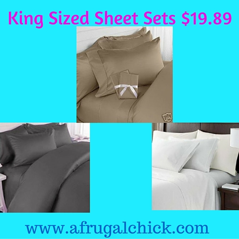 King Sized Sheet Sets $19.89
