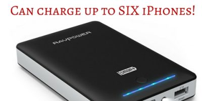 RAVPower Portable Charger $23.99 (Reg. $50)