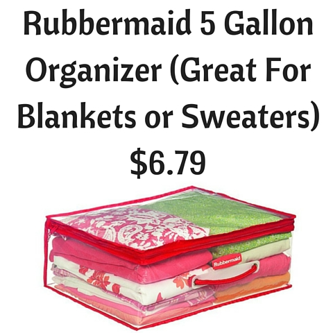 Rubbermaid 5 Gallon Organizer (Great For Blankets or Sweaters) $6.79
