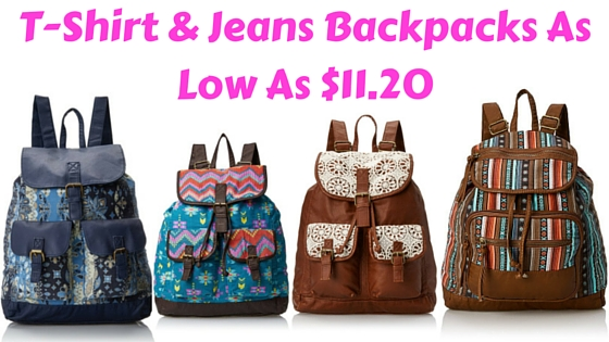 T-Shirt & Jeans Backpacks As Low As $11.20