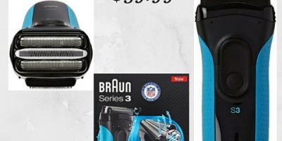 TODAY Only- Braun Series 3 3040 Wet and Dry Shaver $39.99