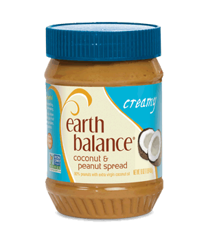 earth balance cocunt and peanut spread