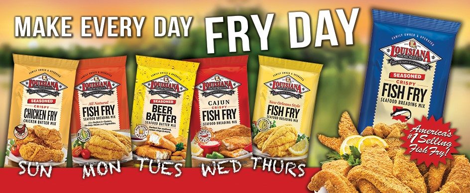 Farm fresh free louisiana fish fry products for How to season fish for frying