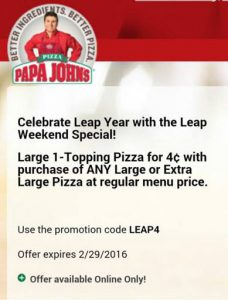 papa johns leap year