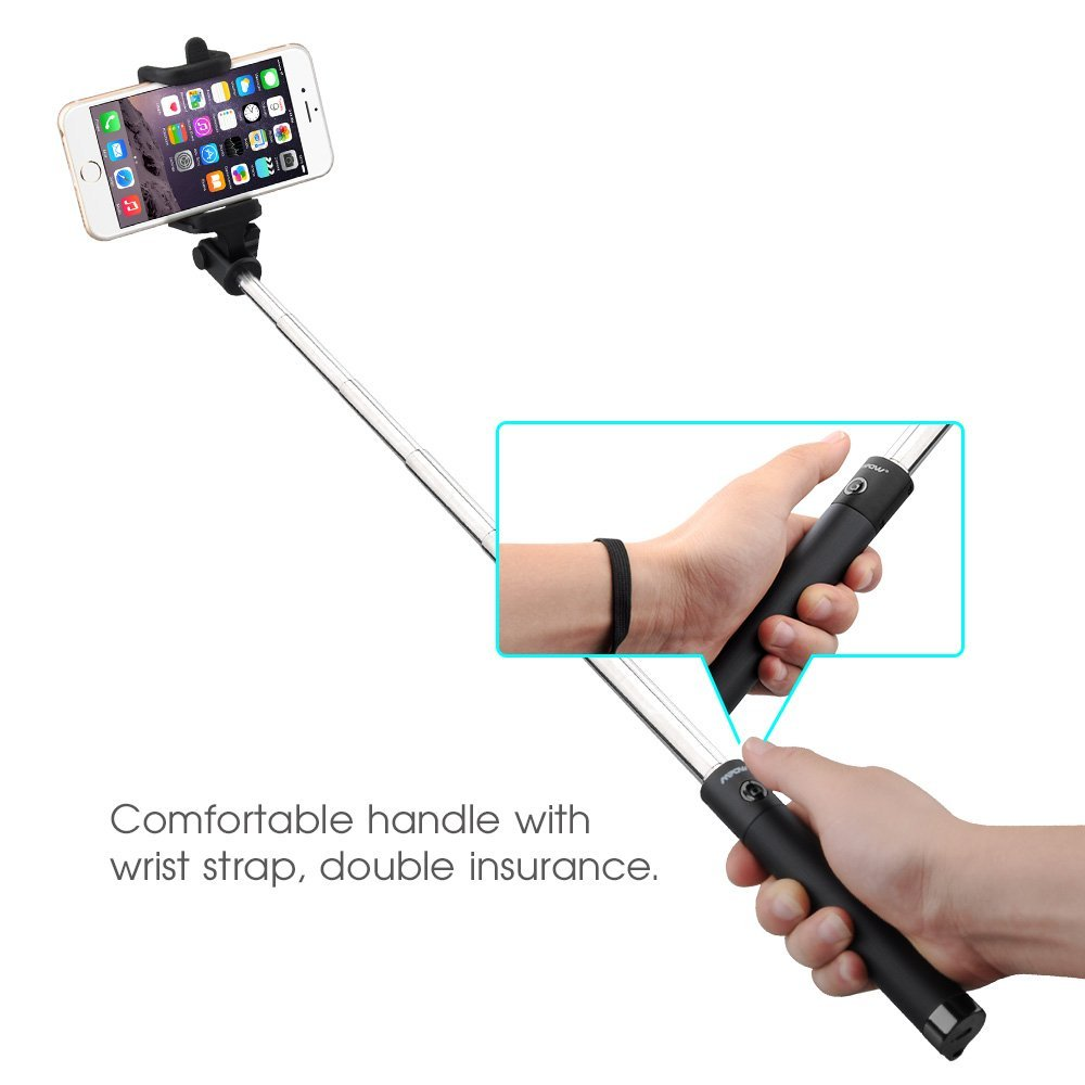 amazon selfie stick with bluetooth remote shutter only today only. Black Bedroom Furniture Sets. Home Design Ideas