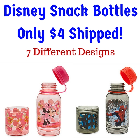 Disney Snack BottlesOnly $4 Shipped!