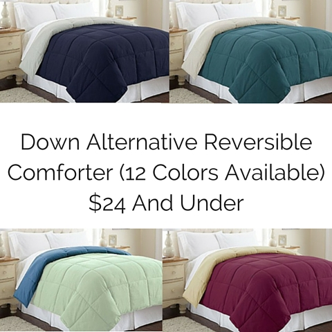 Down Alternative Reversible Comforter (12 Colors Available) $24 And Under (2)