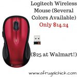 Logitech Wireless Mouse (Several Colors Available) $14.24