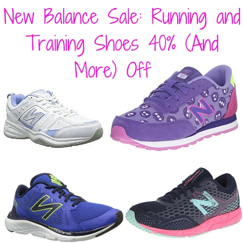 New Balance Sale- Running and Training Shoes 40% + Off