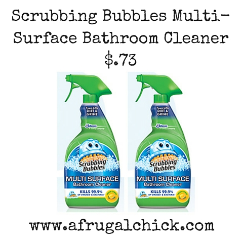 Scrubbing Bubbles Multi-Surface Bathroom Cleaner $.73