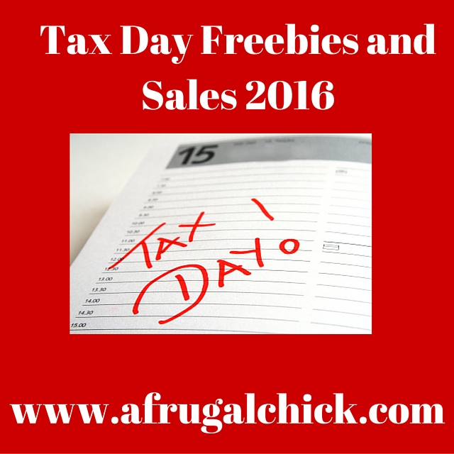 Tax Day Freebies and Sales 2016