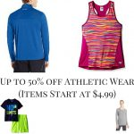 Up to 50% off Athletic Wear (Items Start at $4.99)
