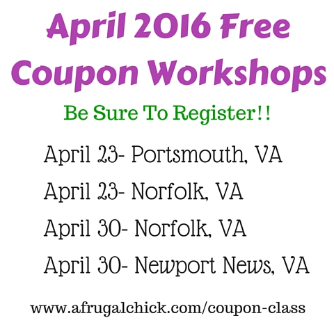 Upcoming Free Coupon Workshops