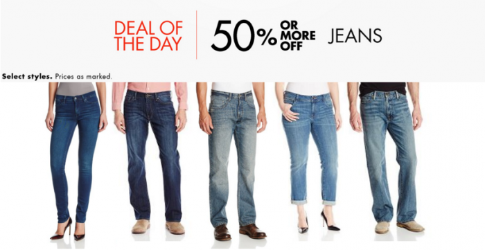 meilleures baskets 561f1 a3cd2 Amazon: 50% Off Jeans Today Only (Levi's, Lucky Brand ...