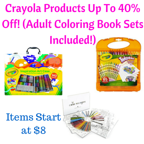 Amazon Crayola Products Up To 40 Off Adult Coloring Book Sets Included