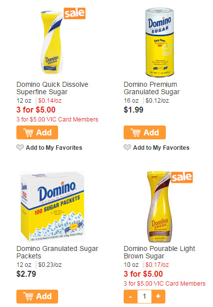 domino quick sugar