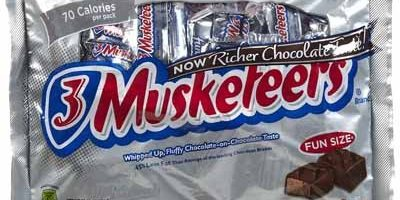 fun size 3 musketeers