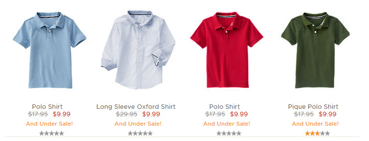 gymboree polo shirts march 2016