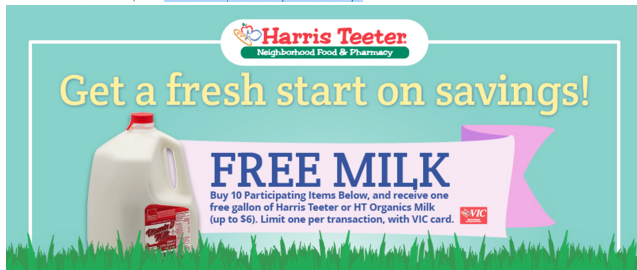 harris teeter milk
