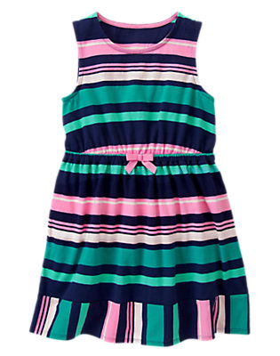 multi striped dress