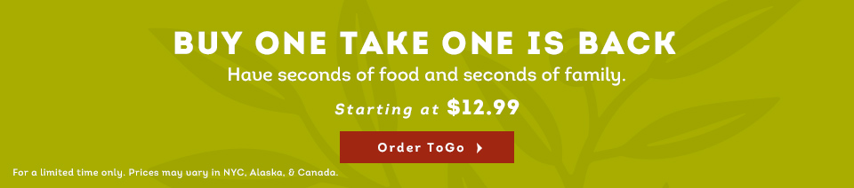 Olive Garden Buy One Take One Is Back Two Meals Starting At
