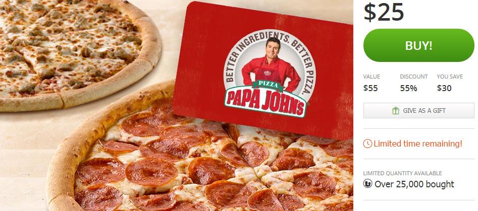papa johns groupon