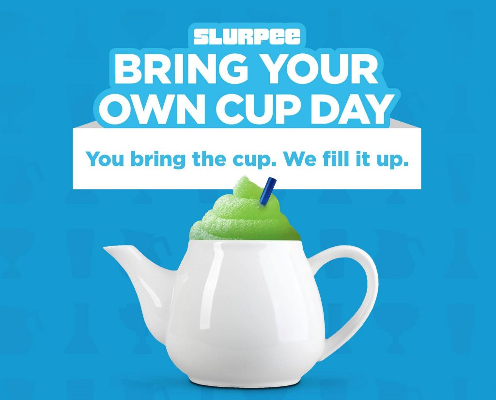 slurpee bring your own cup day