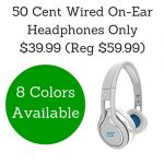 50 Cent Wired On-Ear Headphones Only $39.99 (Reg $59.99)