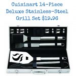 Cuisinart 14-Piece Deluxe Stainless-Steel Grill Set $19.96