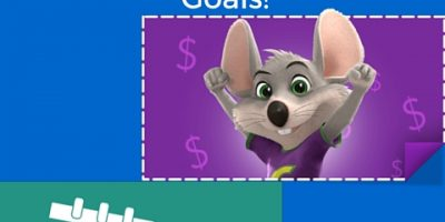 Earn 10 Free Chuck E. Cheese Tokens For Accomplishing Goals!