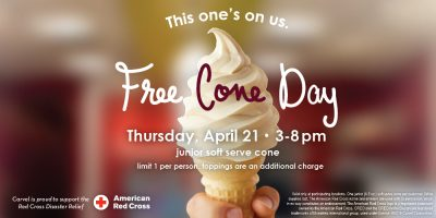 carvel free cone day