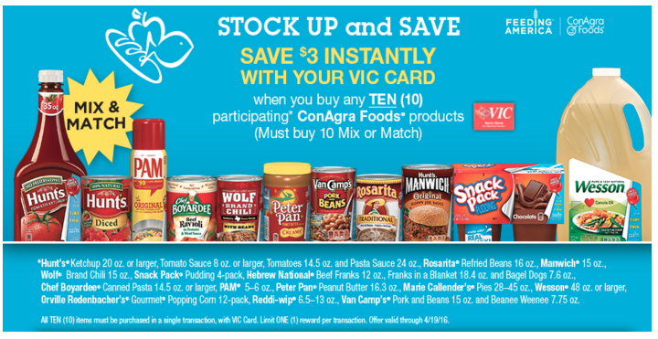 harris teeter conagra promotion