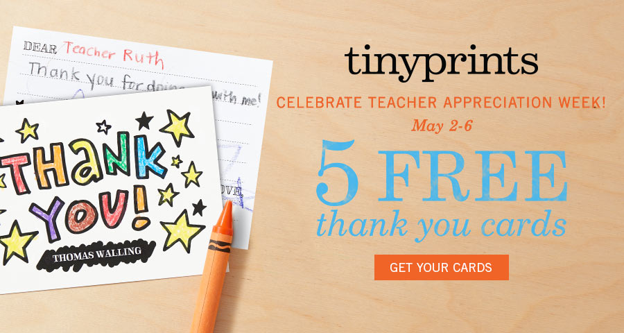 Get 5 Free Thank You Cards For Teacher Appreciation