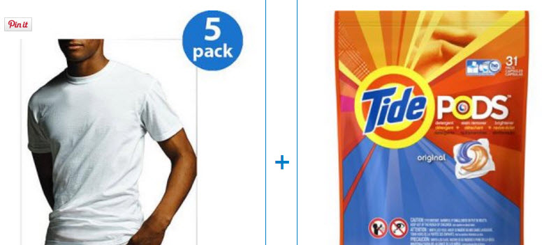 undershirts and tide pods
