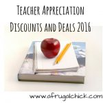Teacher Appreciation Discounts and Deals 2016