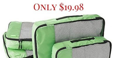 4-Pack Packing Cubes (Various Colors) Only $19.98