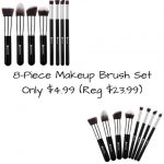 8-Piece Makeup Brush Set Only $4.99 (Regularly $23.99)
