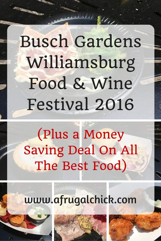 Busch Gardens Williamsburg Food & Wine Festival 2016