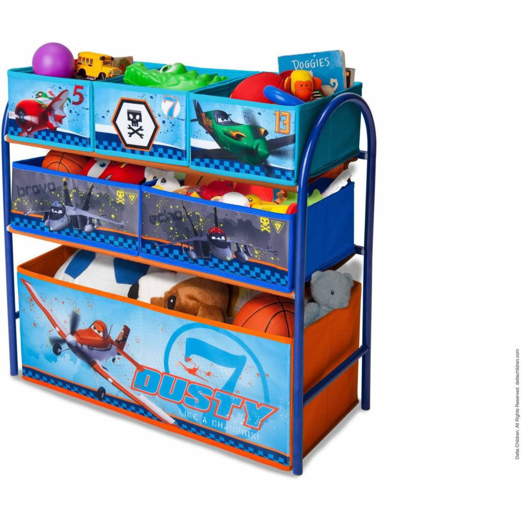 Disney by Delta Children Planes Metal Multi-Bin Toy Organizer