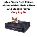 Intex Pillow Rest Raised Airbed with Built-in Pillow and Electric PumpOnly $29.88