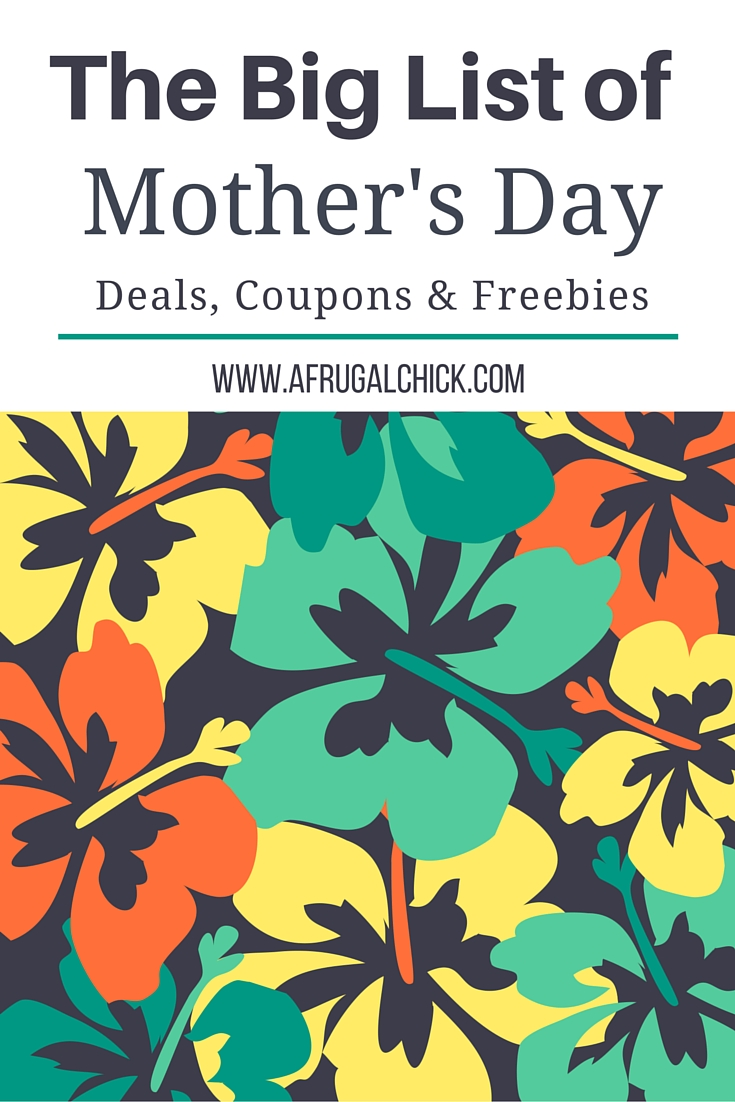 Mothers day 2019 freebies
