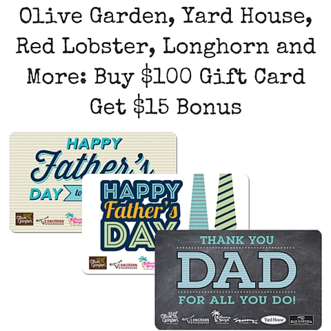 Olive garden yard house red lobster longhorn and more - Olive garden gift card at red lobster ...